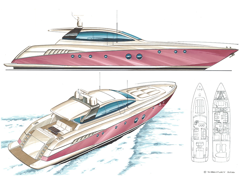 25m Sports Cruising Motor Yacht
